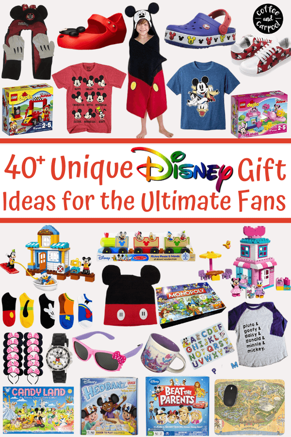 Perfect Disney gifts for the ultimate Disneyland fan and Disney fan #disney #disneylovers #disneygifts #disneylandgifts #holidaygifts #holidaygiftsforkids #coffeeandcarpool