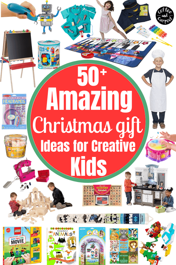 Best gifts to inspire kids to be more creative #creativekids #encouragekidstobecreative #giftsforkids #creativegifts #coffeeandcarpool #holidaygiftsforkids #giftguide
