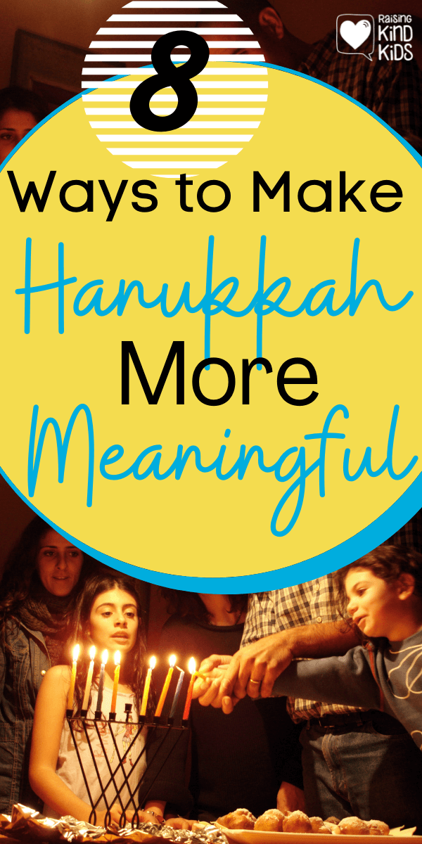 8 Ways to Make Hanukkah More Meaningful for your kids. Whether you celebrate just Hanukkah or Christmas and Hanukkah, these ideas will focus on making Hanukkah more special. www.coffeeandcarpool.com #Hanukkah #Hanukkahtraditions