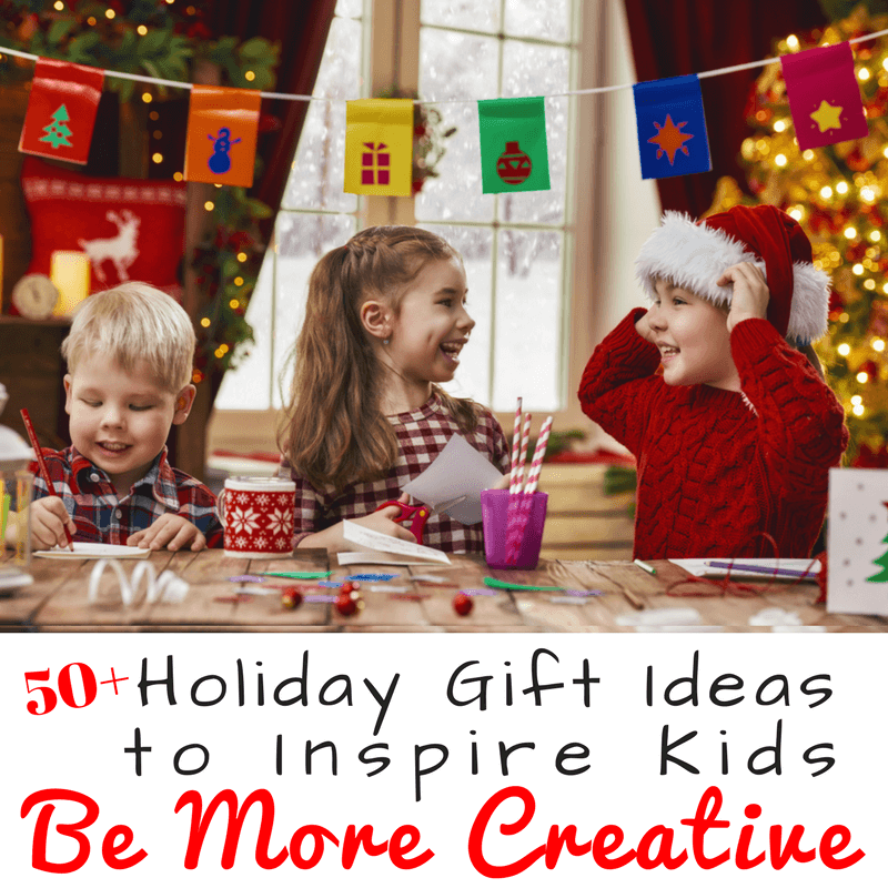 Need holiday gifts that inspire kids to use their imaginations and be creative. This holiday gift guide has over 50 holiday gift ideas for kids. www.coffeeandcarpool.com #holidaygiftguide #giftguide #holidaygiftsforkids #creativekids #creativegifts