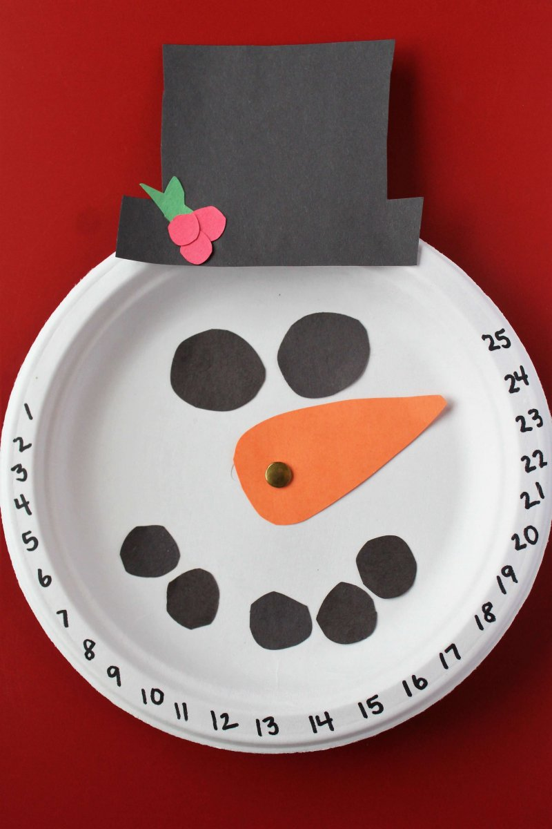 Countdown To Christmas With This Adorable Snowman Craft Www Coffeeandcarpool