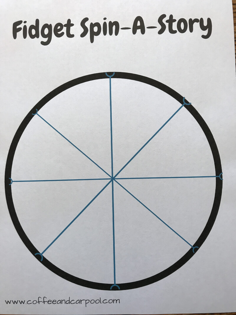 Your student can use this Free fidget spinner worksheet available in the link to write in their own ideas. How creative can they get when writing with a fidget spinner? www.coffeeandcarpool.com