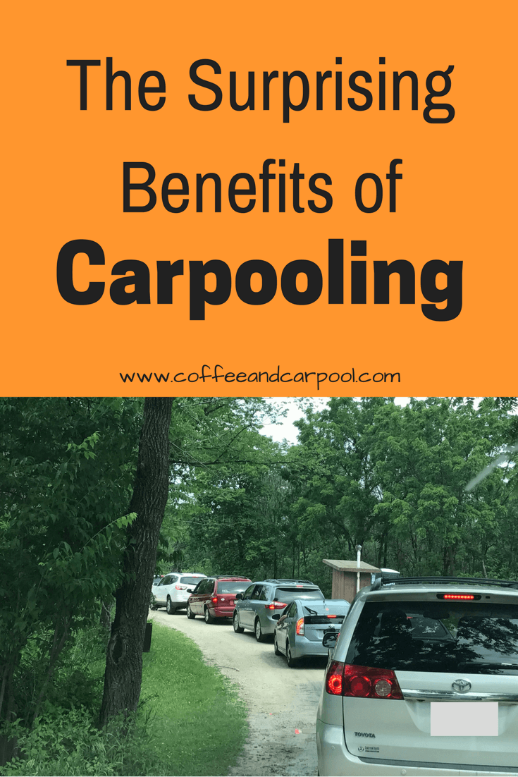 The Surpising Benefits of Carpooling includes not having to sit in a line like this that took me over an hour to get through! Find more benefits when you click on the link. www.coffeeandcarpool.com