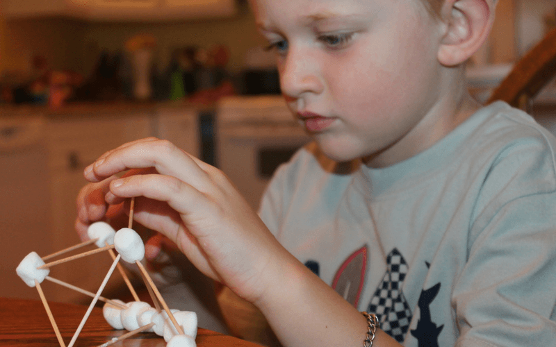 Delicious summer learning with geometry and marshmallows. www.coffeeandcarpool.com