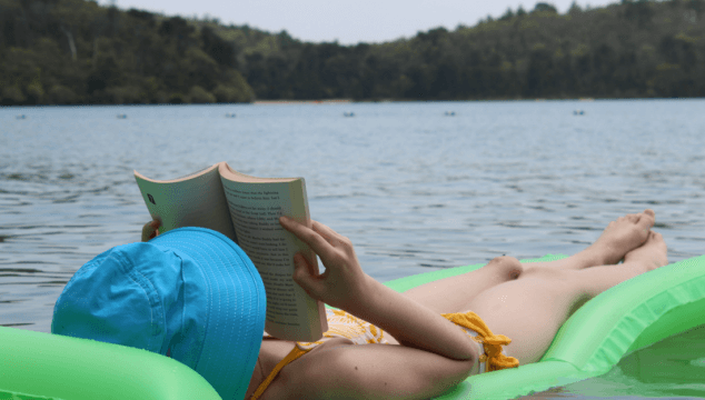 Read anywhere, anytime. Even on a lake. www.coffeeandcarpool.com