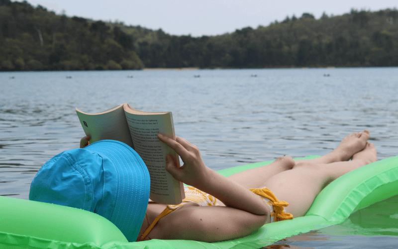 Read anywhere, anytime. Even on a lake. www.coffeeandcarpool.com
