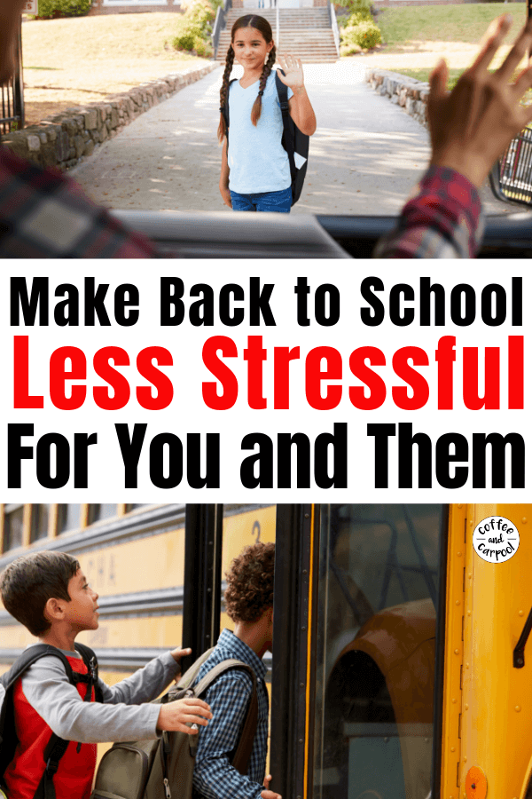 21 Back to school Tips to help make it easier and smoother for you and your kids #backtoschool #backtoschooltips #kindergartner #kindergartentips #kindergartenreadiness #coffeeandcarpool