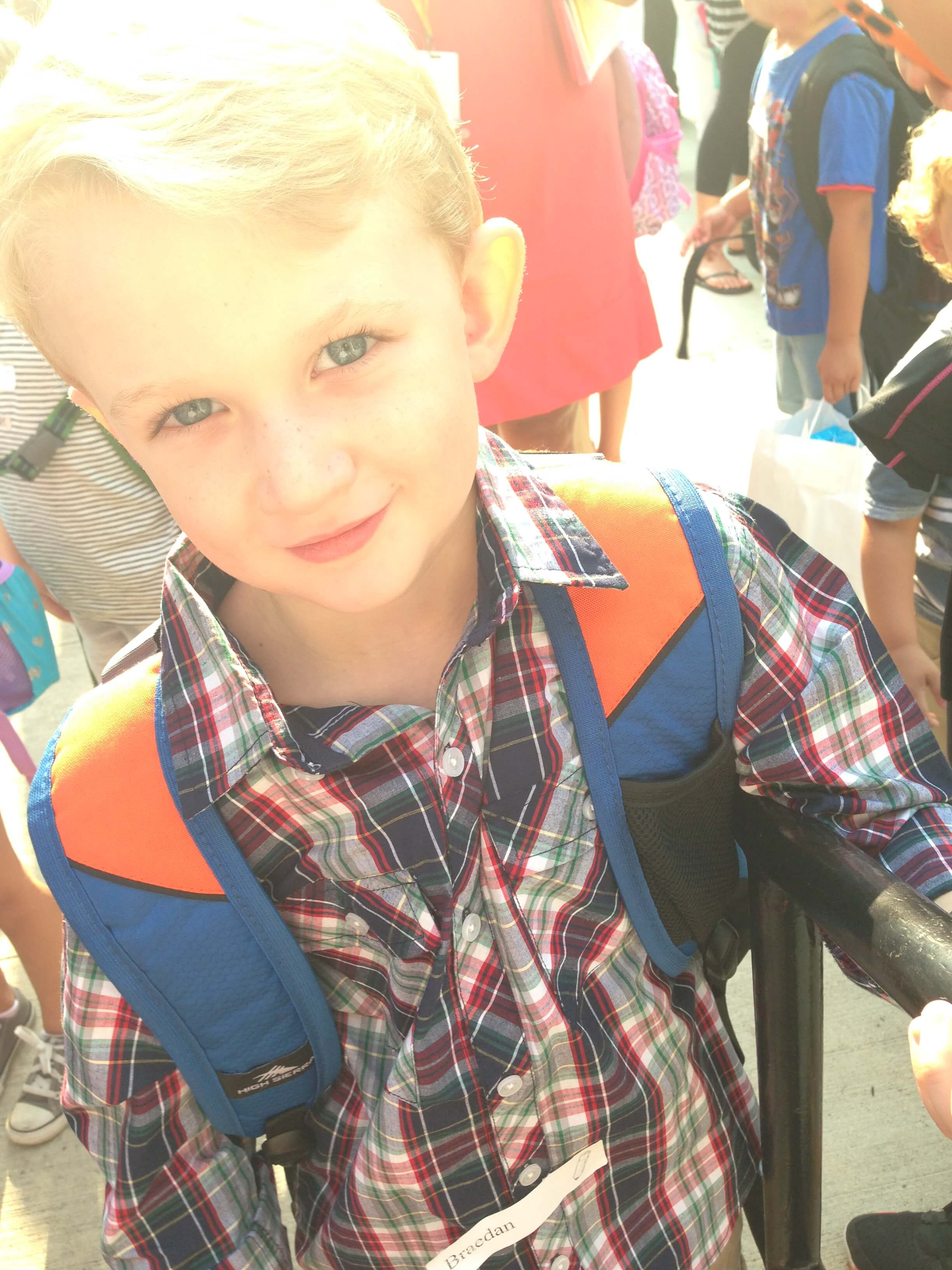 Sending him off to a new school for Kindergarten. Will he stay safe with his food allergies? www.coffeeandcarpool.com