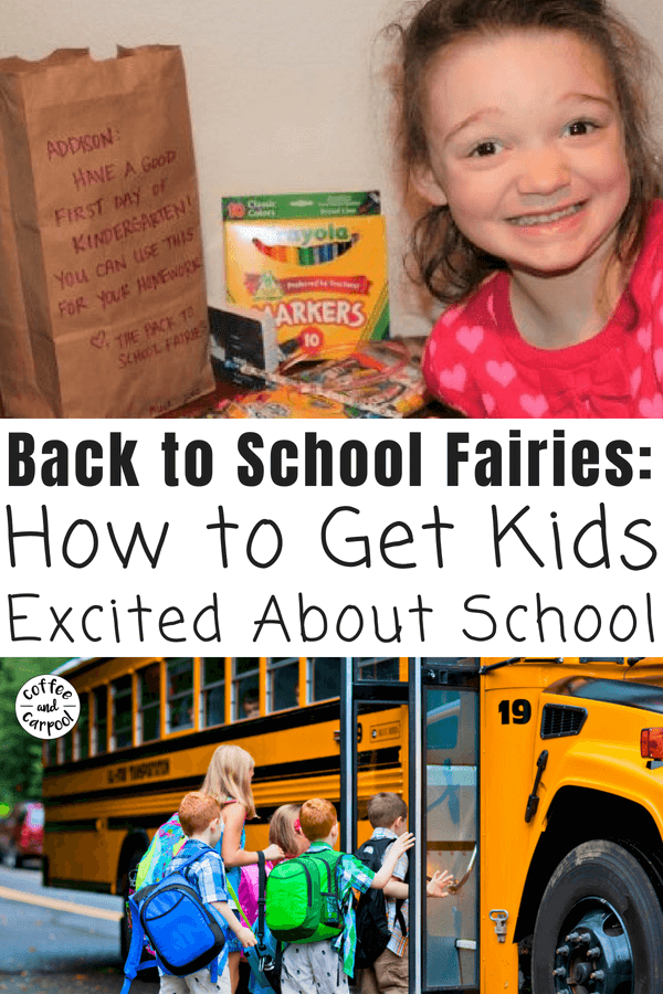 How to get kids excited about school with a visit from the back to school fairies #backtoschool #backtoschoolfairies #newschoolyear #excitedaboutschool #backtoschooltime #backtoschooltips #btstips #coffeeandcarpool #fairies