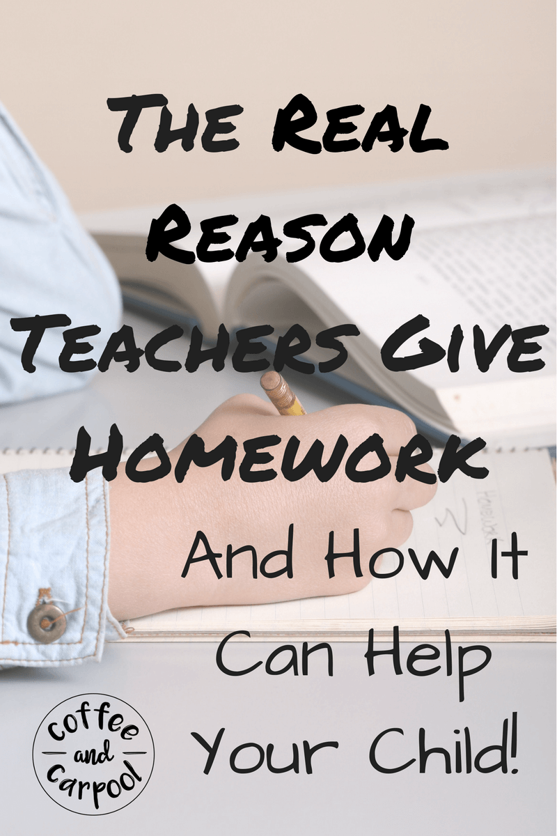 Need homework hacks, tips for kids and for parents? Homework helps kids with learning at home. Find out why teachers give homework at www.coffeeandcarpool.com
