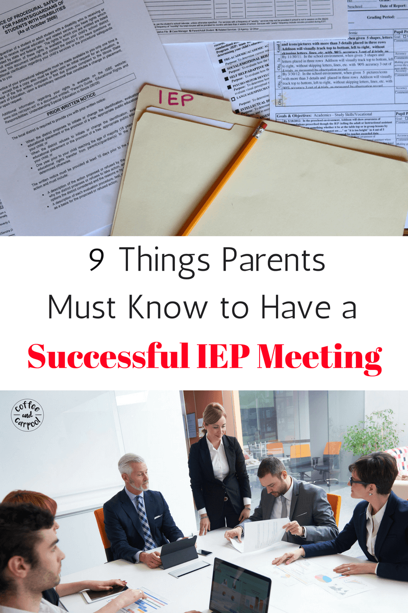 Do you have an upcoming IEP Meeting and want tips and tricks to make it a successful IEP Meeting? www.coffeeandcarpool.com