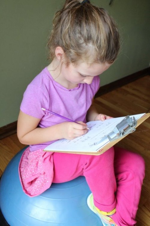 Kids who need to move can do their homework on a bosu ball taking sensory breaks to bounce. Need more homework help and tips? www.coffeeandcarpool.com