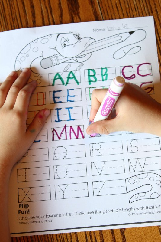 Creative kids may enjoy finishing their homework by using markers or colored pencils. Need more homework help and tips? www.coffeeandcarpool.com