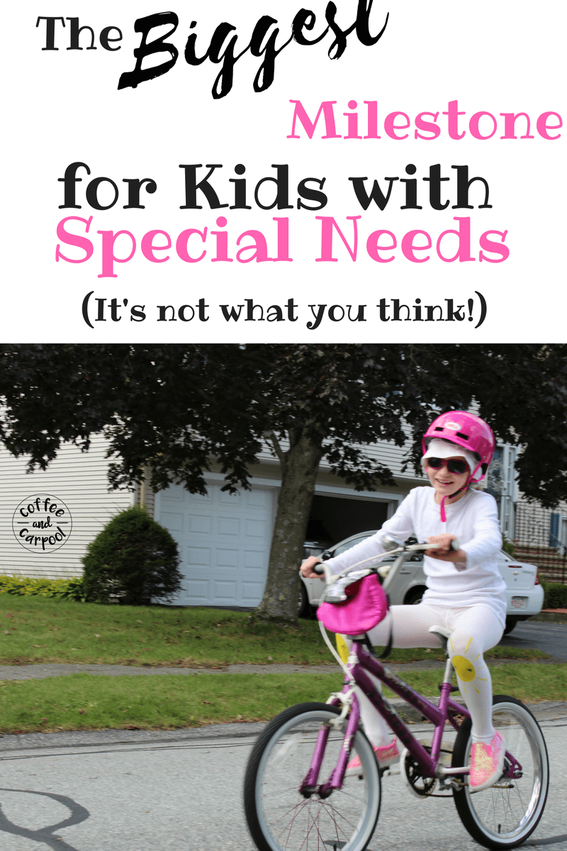 Biggest Milestone for kids with special needs #specialneeds #specialneedsparenting #specialneedsmom #visualimpairment #coffeeandcarpool