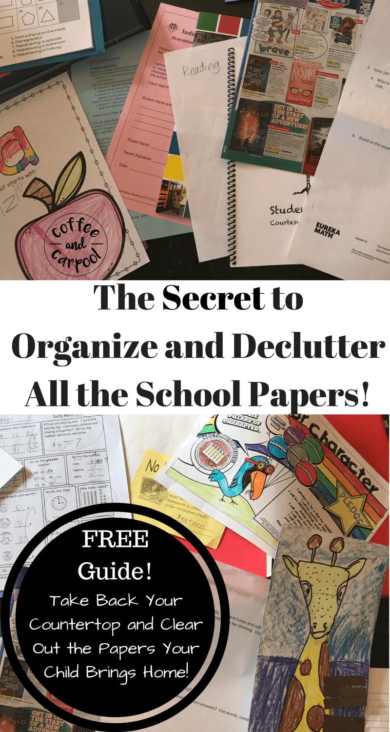 FREE Printable to organize paperwork at home to get your house decluttered at www.coffeeandcarpool.com