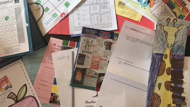 How to organize and declutter all the paperwork that comes home from your child's school. It can be overwhelming! Get the FREE Guide to help declutter it all once and for all at www.coffeeandcarpool.com