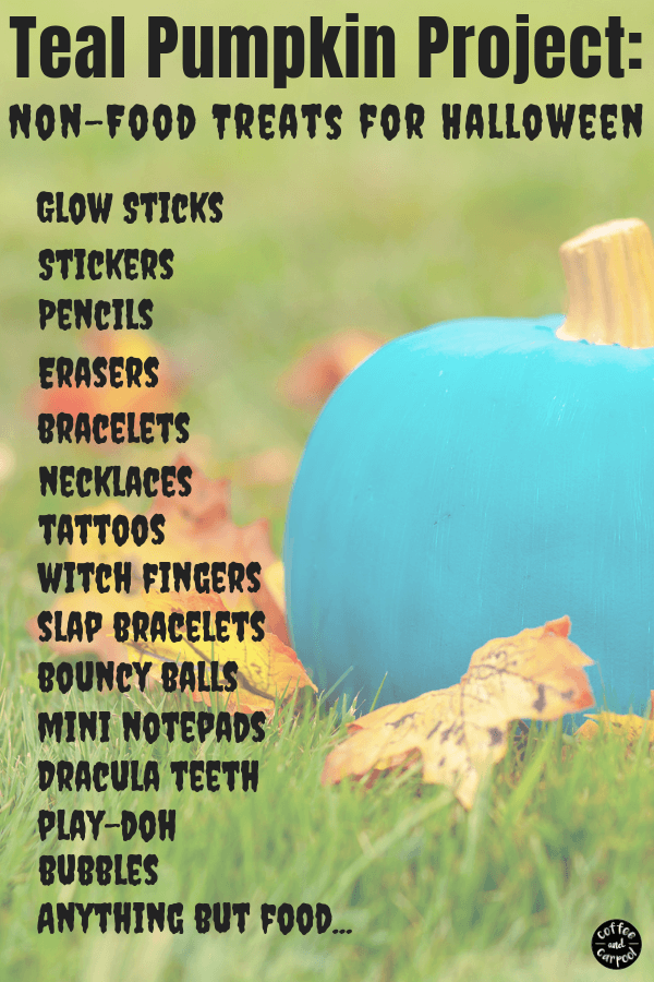 Teal Pumpkin Project ideas to pass out this Halloween #tealpumpkinproject #foodallergies