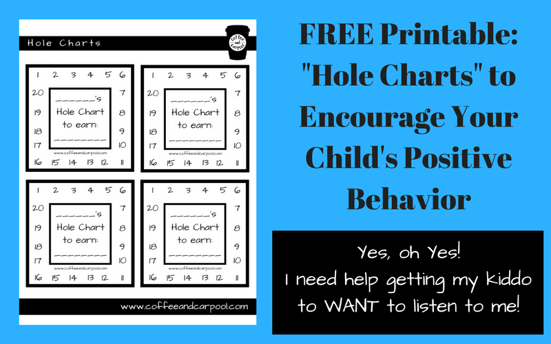 Want a simple trick to get your kids to want to listen? Use this free printable to help your child do whatever you need them to do! www.coffeeandcarpool.com