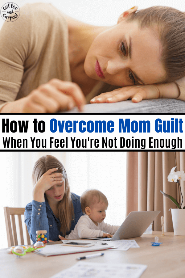 Moms often don't think they're doing enough. There's a trick that will help moms get through the tough days, on the days when we don't feel like we're enough.