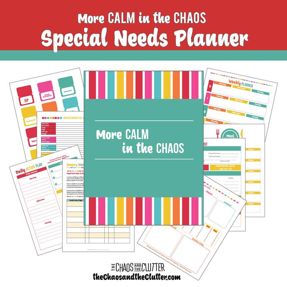 Special Needs Moms have a lot to keep organized. Do it with this brand new planner designed just for special needs moms. www.coffeeandcarpool.com