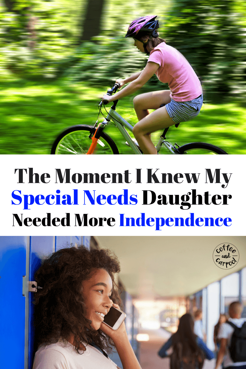Is your special needs daughter ready for more independence? How will you know? www.coffeeandcarpool.com