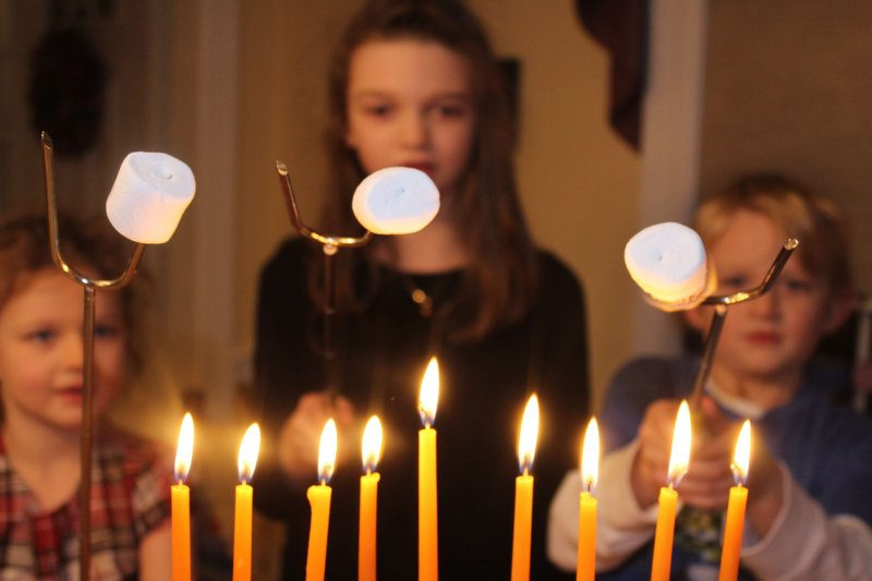 Hanukkah more meaningful with special gifts each night. #hanukkah #menorahlighting