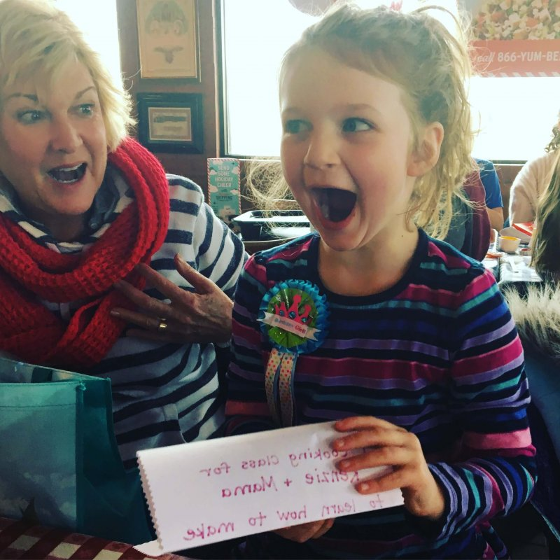 Want a fun way to send thank you notes? Use a picture of your kid opening their gift and write the note on the back. www.coffeeandcarpool.com #thankyounotes #gratefulkids