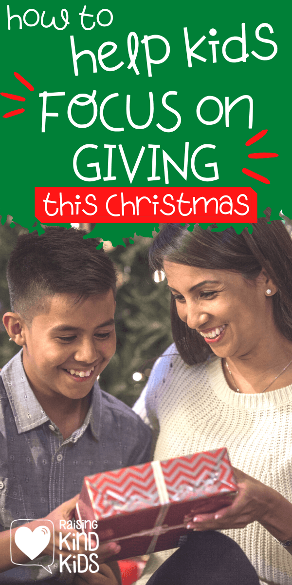 Are you concerned with how much stuff your kids receive on Christmas. Focus on the giving with this one simple trick. www.coffeeandcarpool.com #giving #spiritofChristmas #teachingkidsgratitude #focusongiving