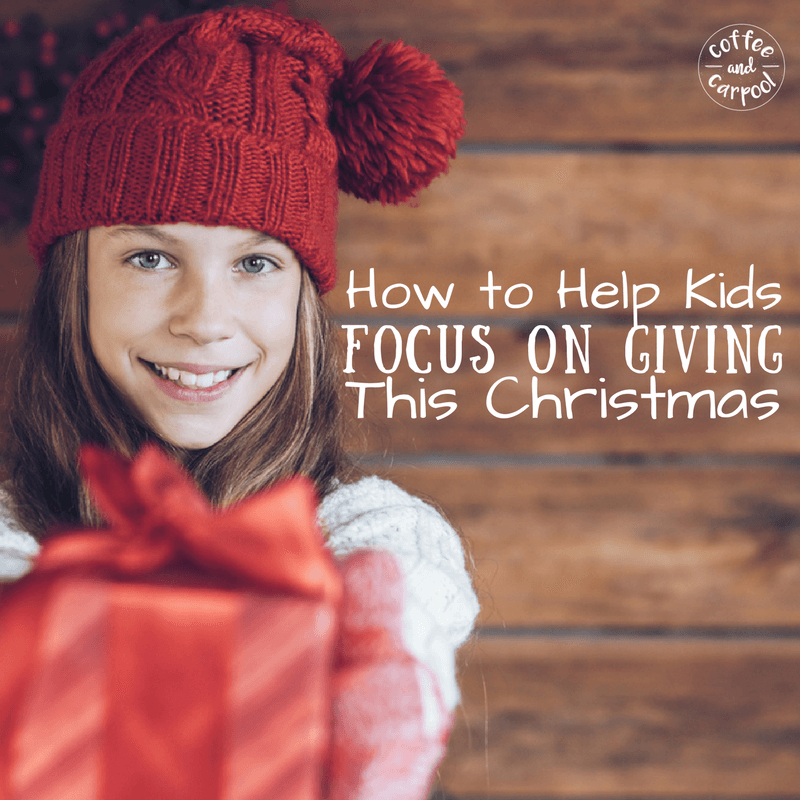 How to help kids focus on giving this holiday season with this new simple tradition. www.coffeeandcarpool.com #spiritofgiving #christmastradition #kidsgiving