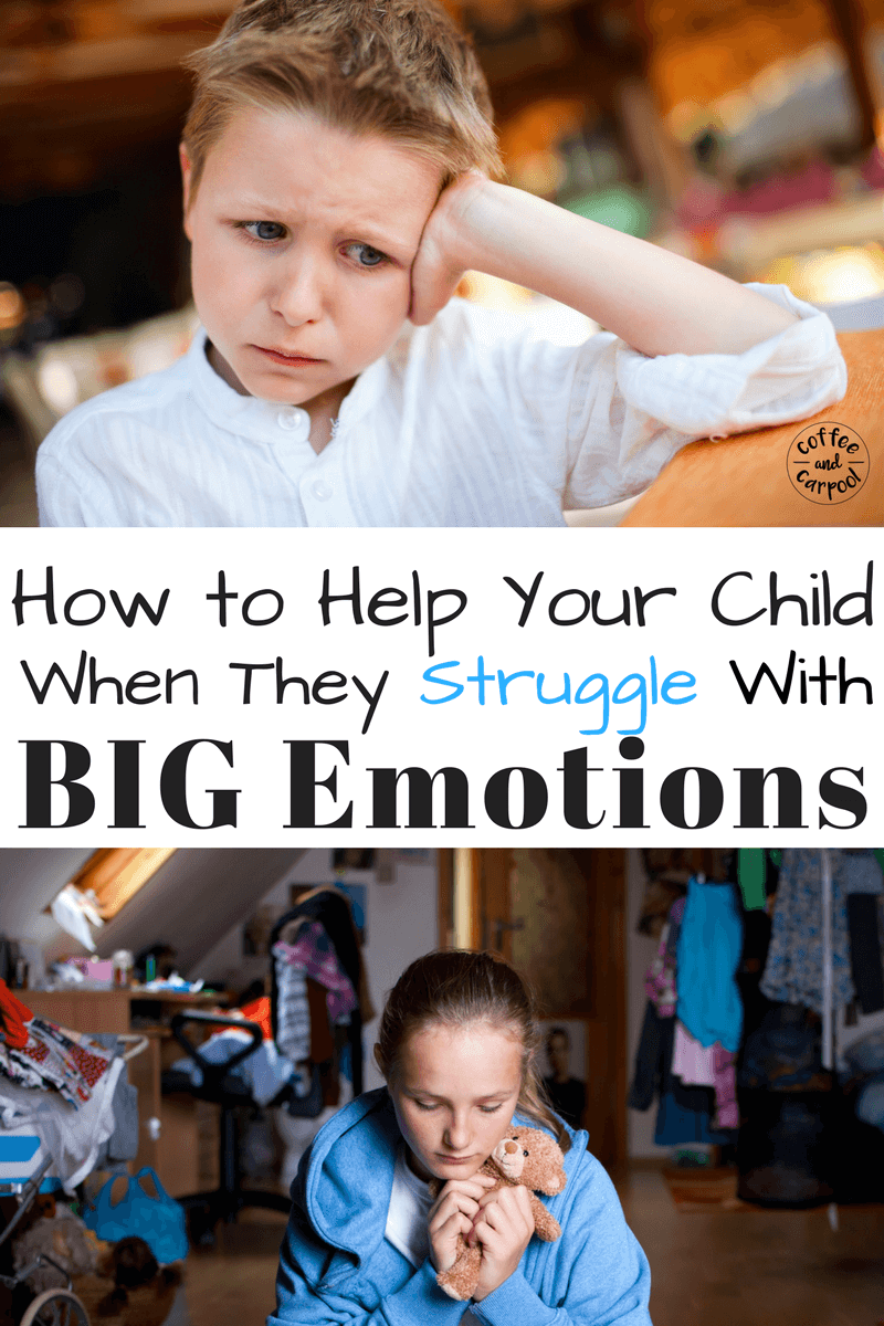 Is your child struggling with big emotions-anger, sadness, shyness, anxiety when dealing with tough social situations? This free printable and free video course will help! www.coffeeandcarpool.com