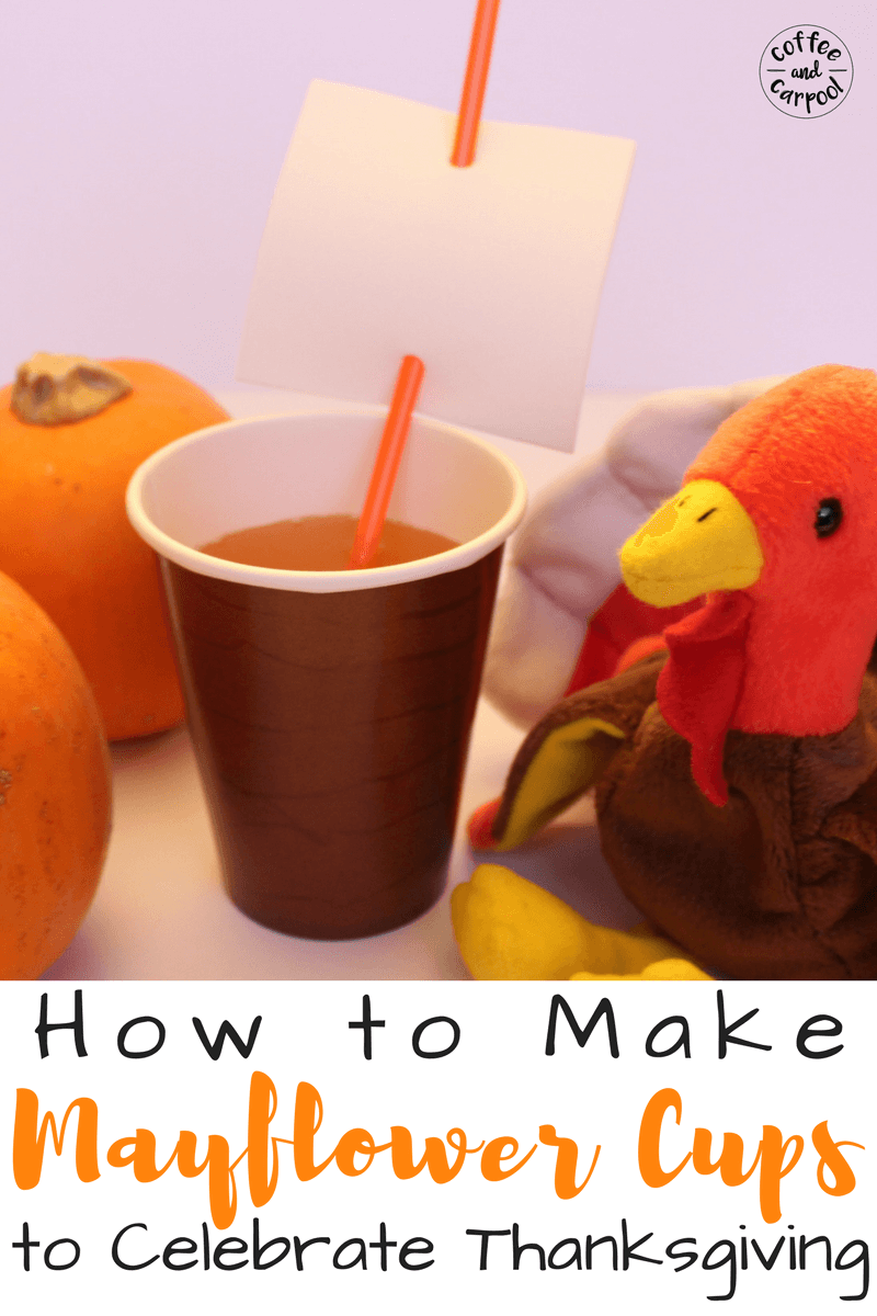 How to make Mayflower Cups to Celebrate Thanksgiving. A perfect Thanksgiving craft kids can make. #thanksgivingcraft #kidsthanksgiving #cutethanksgivingcraft #mayflowercup #thanksgivingkidstable