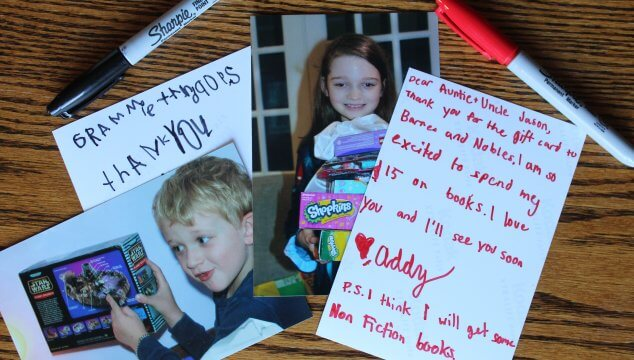 How to Write the Most Thoughtful Kid Thank You Notes