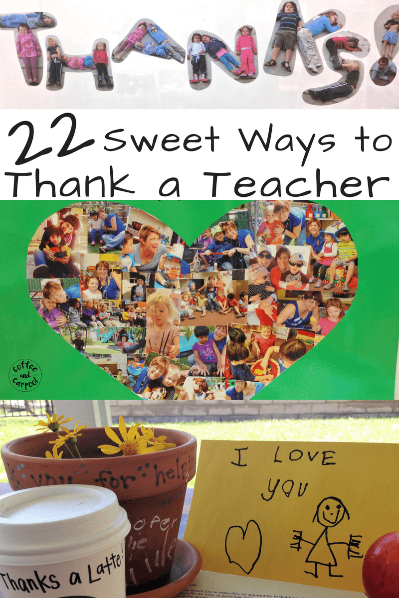 For teacher appreciation week in May, use these sweet ideas to let your child's teacher know how much you appreciate their hard work and dedication. #teacherappreciation #thankateacher #giftguide