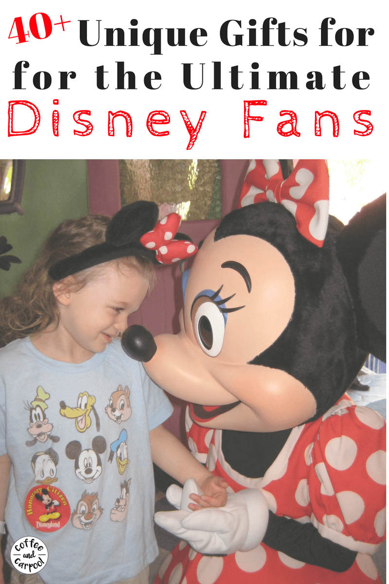 Over 40 unique gift ideas for Disney fans and Disneyland fans who love Mickey and Friends. #giftideas #holidaygifts #Disney #Disneyland #Disneyfans