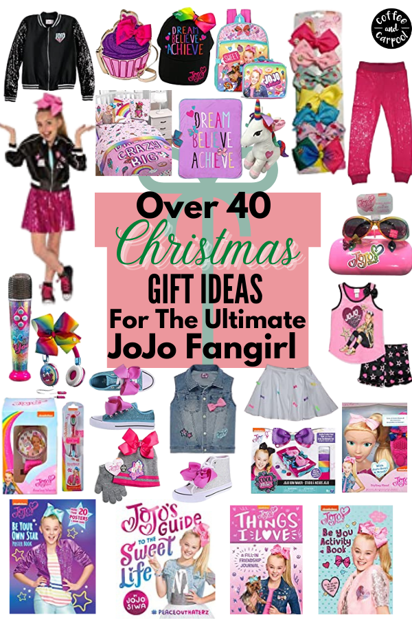 40+ JoJo gifts for the little girl in your life. She will absolutely love these gifts more than JoJo bows #jojosiwa #jojobows #holidaygifts #holidaygiftideas #giftsforkids #jojosiwagifts #jojogifts #holidaygiftguide