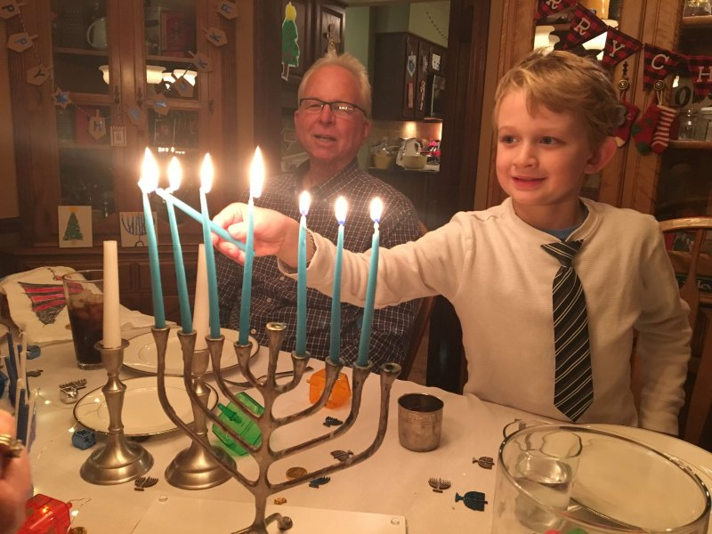 8 Things you need to know about Hanukkah...we light a menorah or hanukkiah with a shamash.