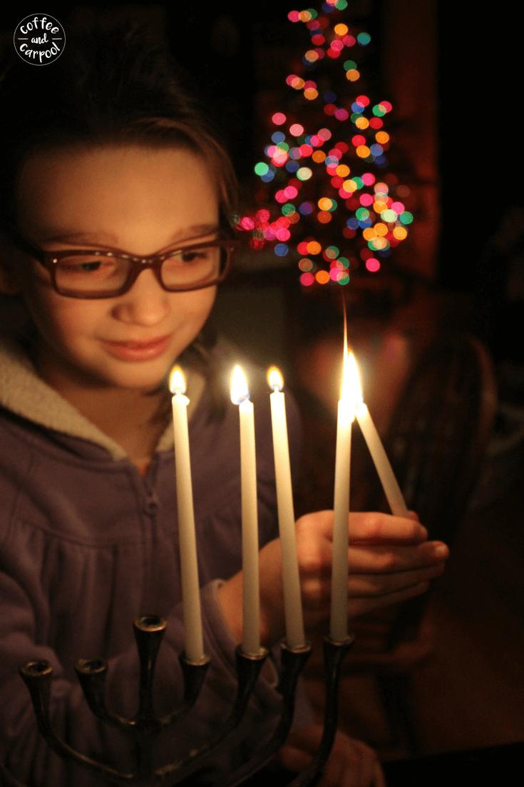 An interfaith family can celebrate both Hanukkah and Christmas together #interfaith #interfaithfamily #Hanukkah