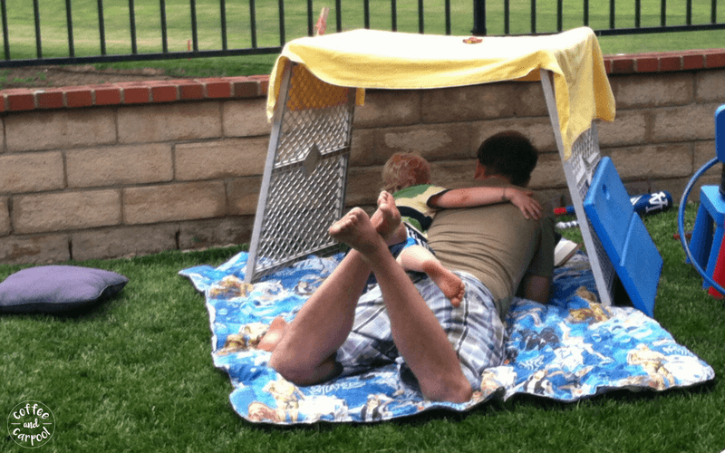 35 ways to be a more silly mom. Build a fort and climb in with them. #fort #besilly #beasillymom