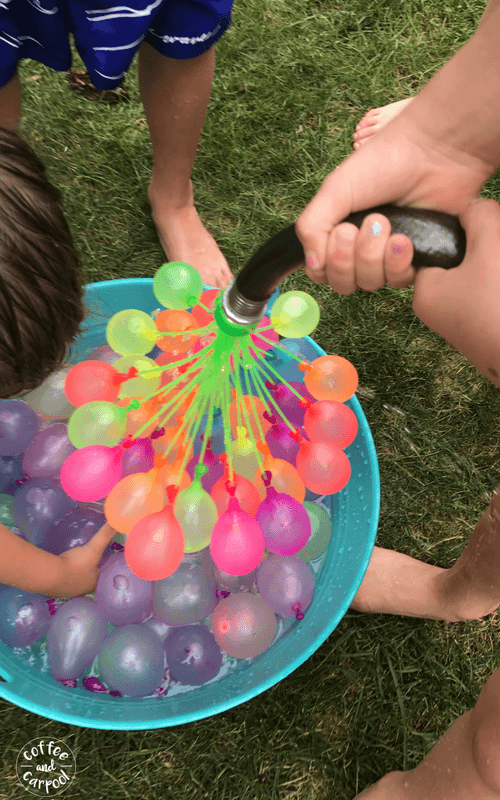 Have more fun and be a sillier mom with these 35 super fun ideas. Have a water balloon fight with your kids #waterballoon #summerfun #momlife