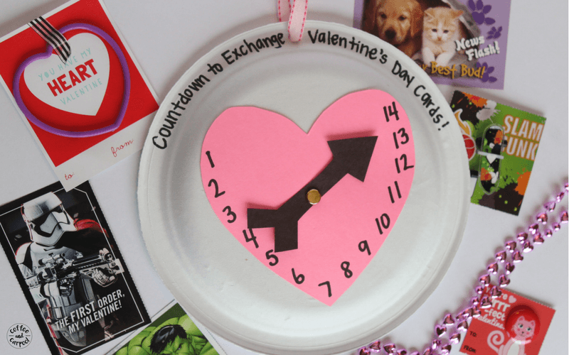 Valentine's Day Countdown Craft to get kids excited about Valentine's Day #valentinesday #valentinesdaycraft #valentinesdayidea