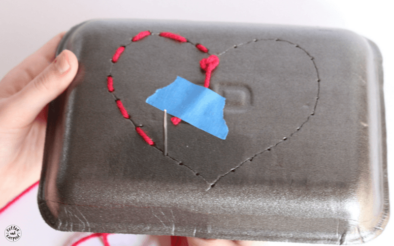 Beginner sewing craft for kids with this cute Valentine's day craft for kids easy