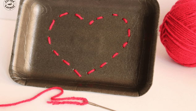 How to Teach Your Kids to Sew With this Valentine's Day Craft