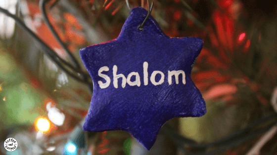Interfaith family? Here's how we celebrate both December holidays. #interfaithfamily #decemberholidays #hanukkah