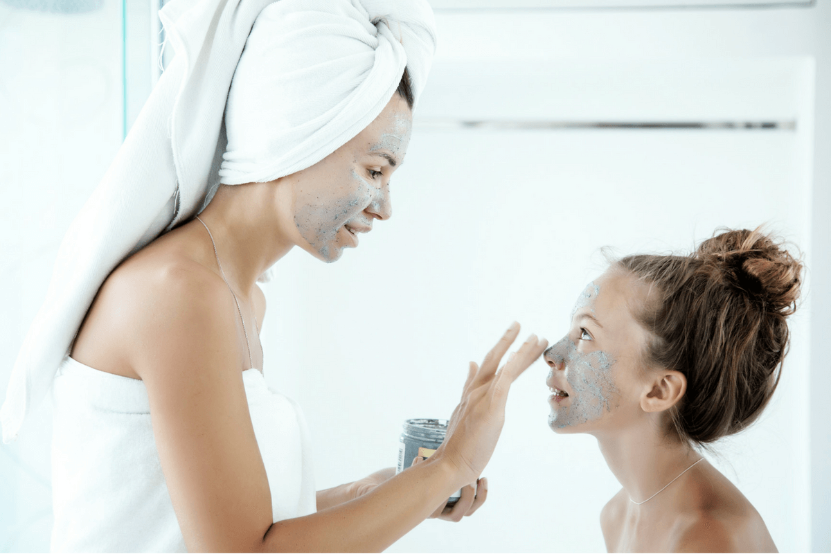 Connect with your tween by sharing in your beauty rituals. #preteen #tween #connectwithyourtween