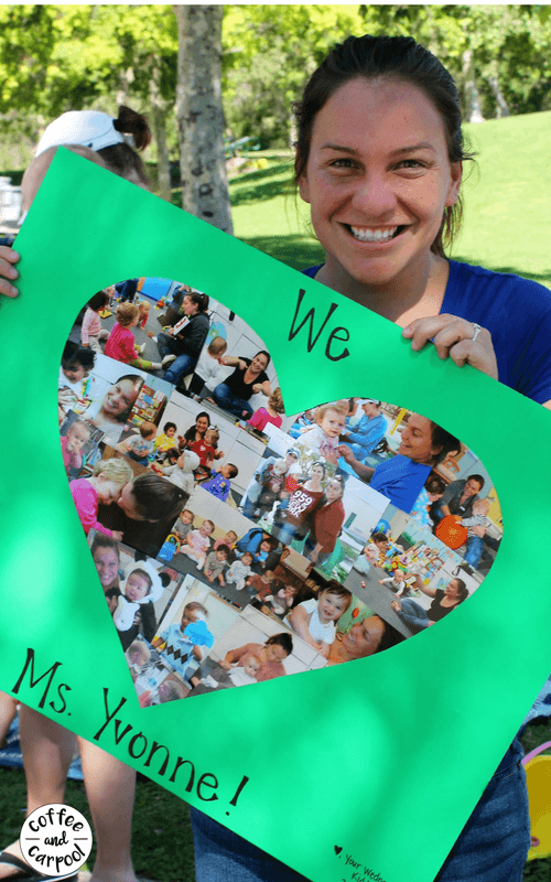 Using class photos is a simple way to thank your kids teachers. #teacherappreciation #giftguide