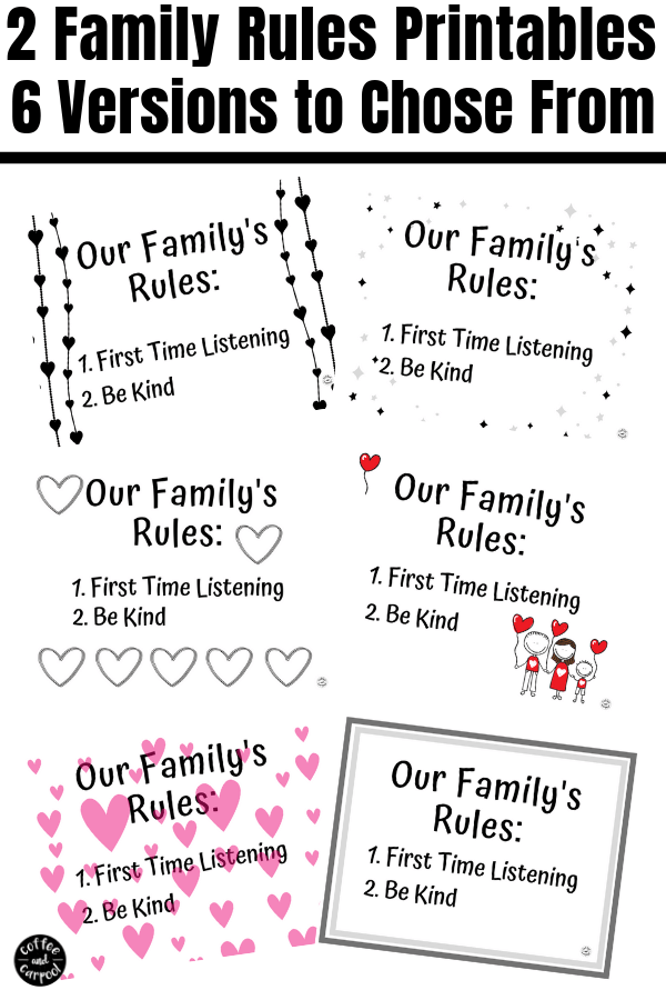 The only 2 Family Rules you need to have a calmer, happier more peaceful family. #familyrules #kindness #parenting #parents