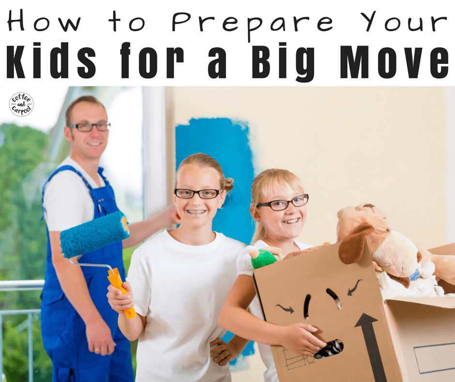 Moving can be hard for kids. Make the process of a big move simpler, calmer and more predictable for your kids with these 21 tips. #movingwithkids #movingtips #movewithkids #moving
