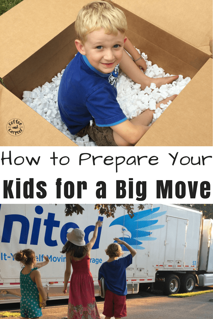 Are you planning a big move with your kids? Help them get adjusted faster and get emotionally prepared for it with these 21 tricks that have worked three times for my kids #movingwithkids #movewithkids #moving