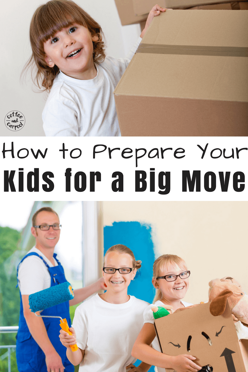 Moving can be scary and hard for kids. Make the big move transition easier with these 21 tricks and tips for moving with kids. #movingwithkids #moving #movewithkids