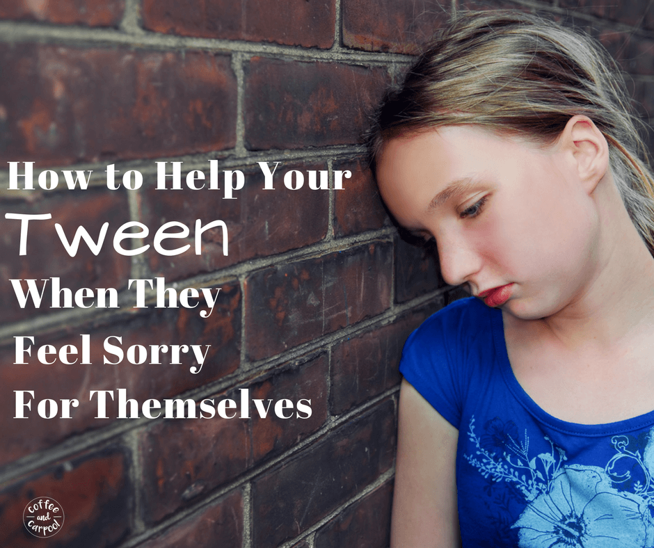 Does your tween feel sorry for themselves? Do they struggle with gratitude and poor me issues? Support your tween's mental healthy and self-talk with these tips #tweens #preteens #tweenmentalhealth #selftalk
